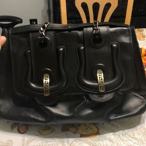 FENDI Black Leather Bag
